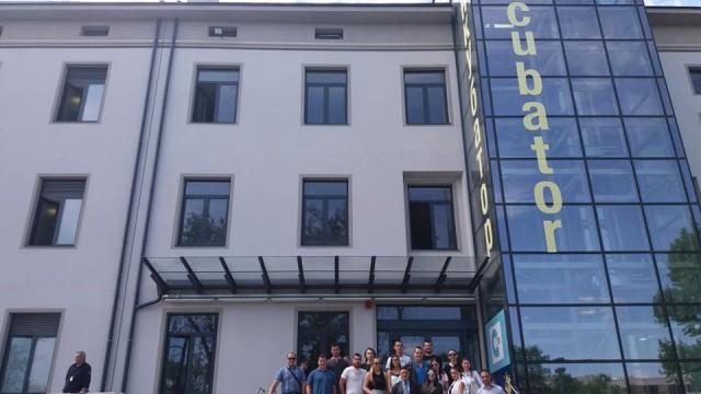 Посещение на студенти на ВУЗФ в София Тех Парк