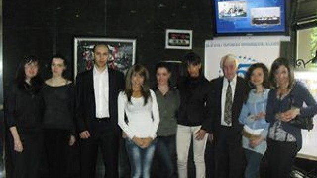 VUZF students visiting the Bulgarian Chamber of Commerce and Industry